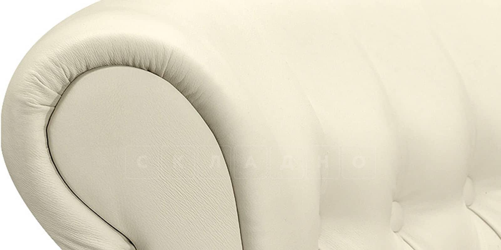 Мягкая кровать Вирджиния 160см экокожа молочного цвета фото 7 | интернет-магазин Складно