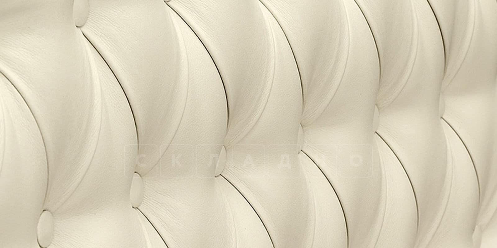 Мягкая кровать Вирджиния 160см экокожа молочного цвета фото 8 | интернет-магазин Складно