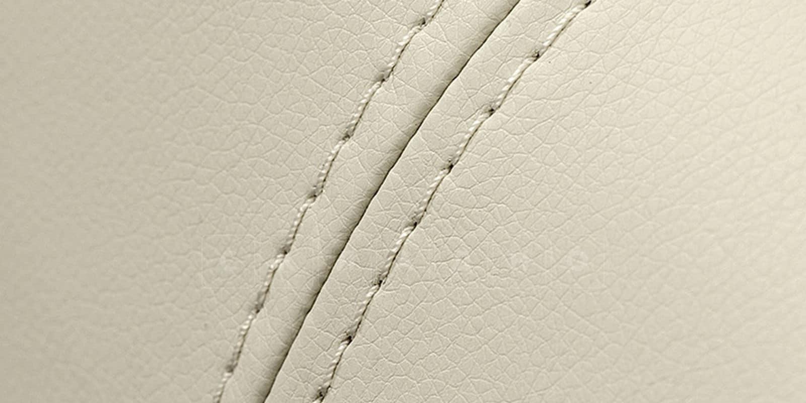 Мягкая кровать Вирджиния 160см экокожа молочного цвета фото 9 | интернет-магазин Складно