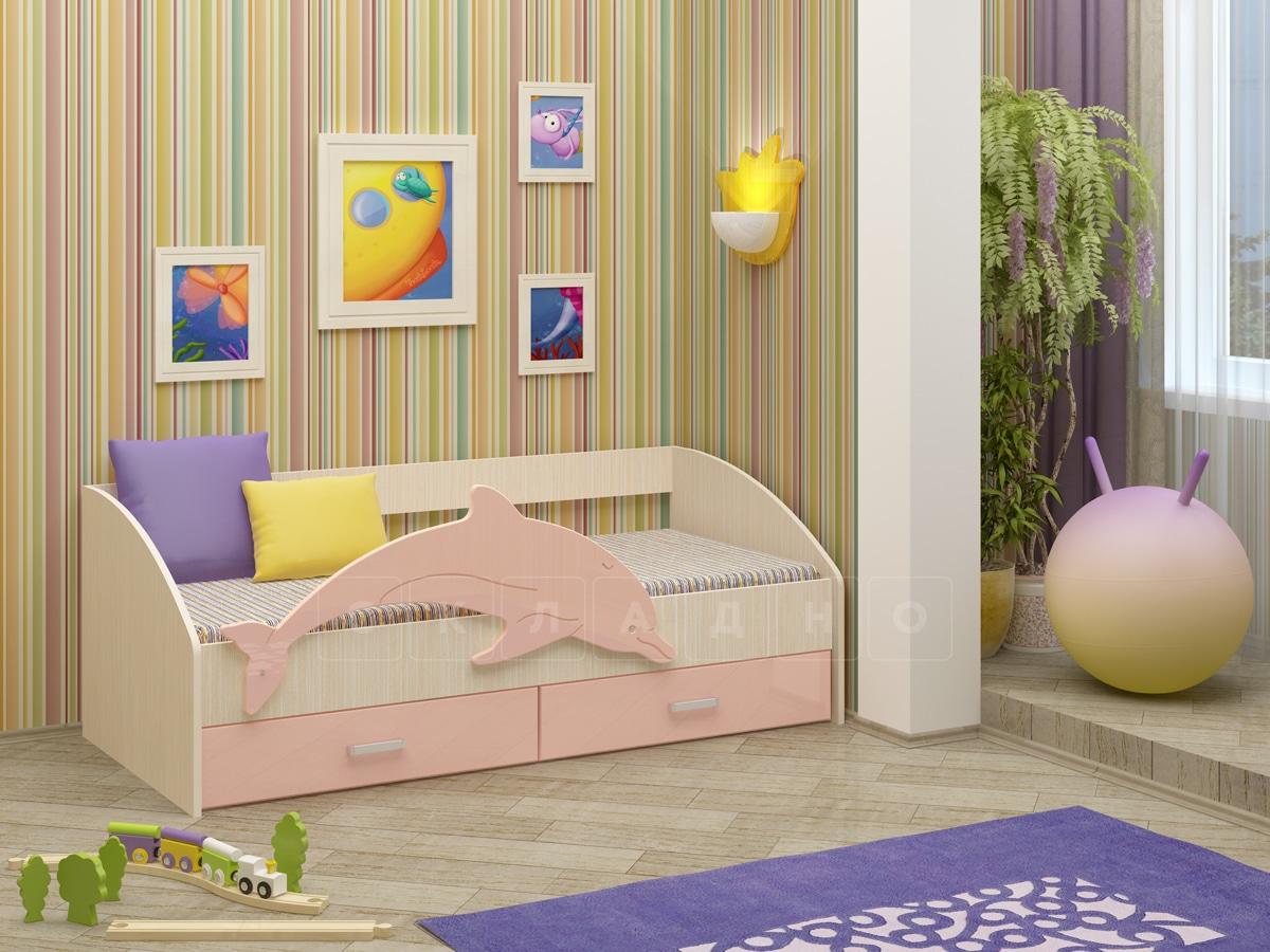 Детская кровать Дельфин-4 МДФ фото 3 | интернет-магазин Складно