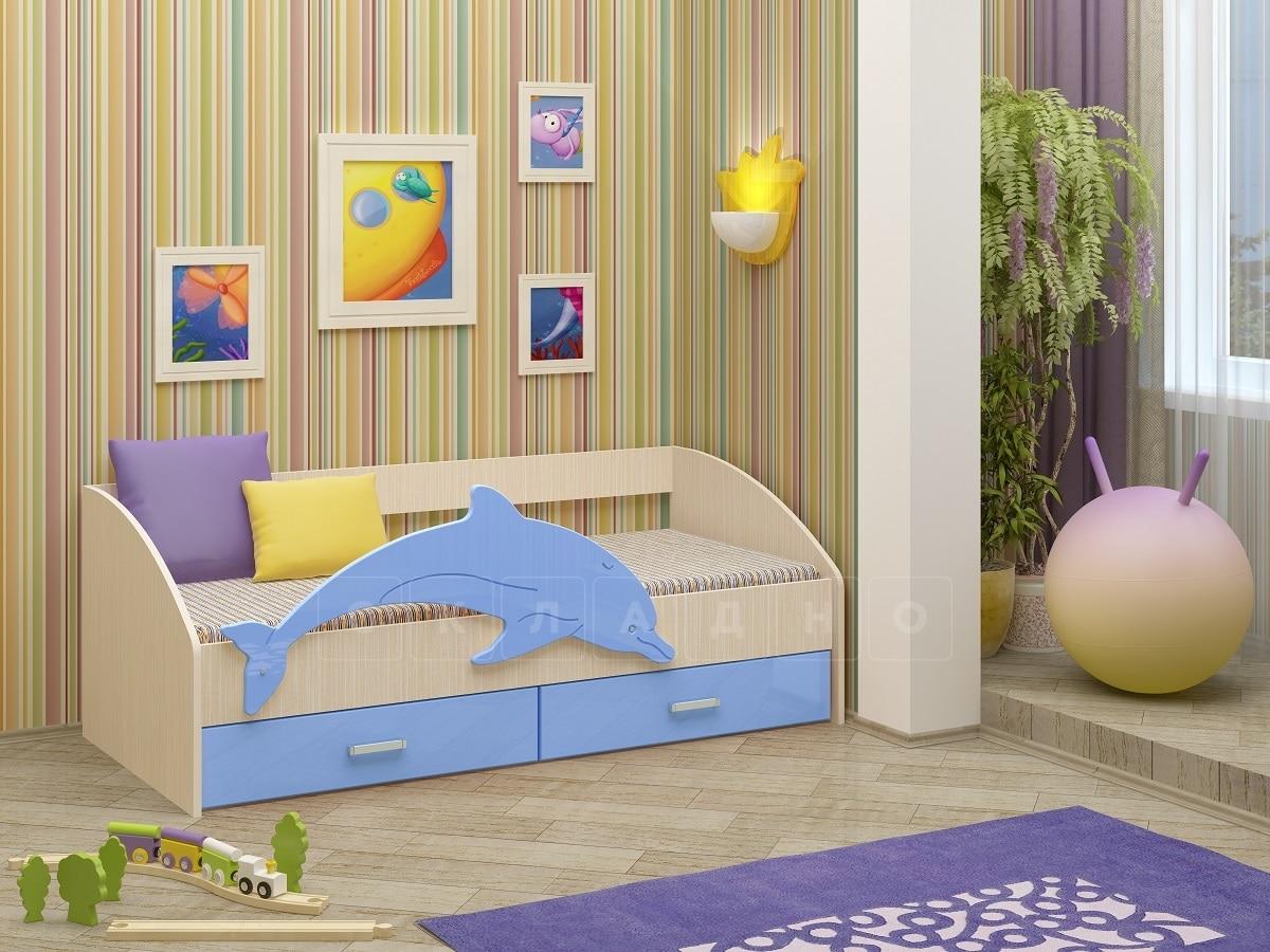 Детская кровать Дельфин-4 МДФ фото 8 | интернет-магазин Складно