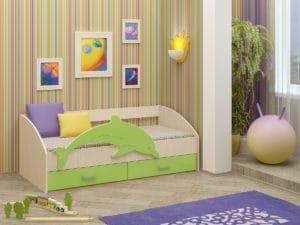 Детская кровать Дельфин-4 МДФ фото | интернет-магазин Складно