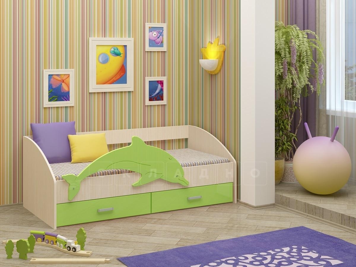 Детская кровать Дельфин-4 МДФ фото 2 | интернет-магазин Складно
