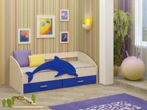 Детская кровать Дельфин-4 МДФ  7230  рублей, фото 1 | интернет-магазин Складно