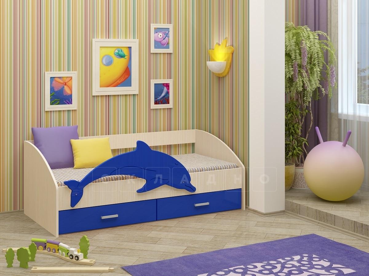 Детская кровать Дельфин-4 МДФ фото 1 | интернет-магазин Складно
