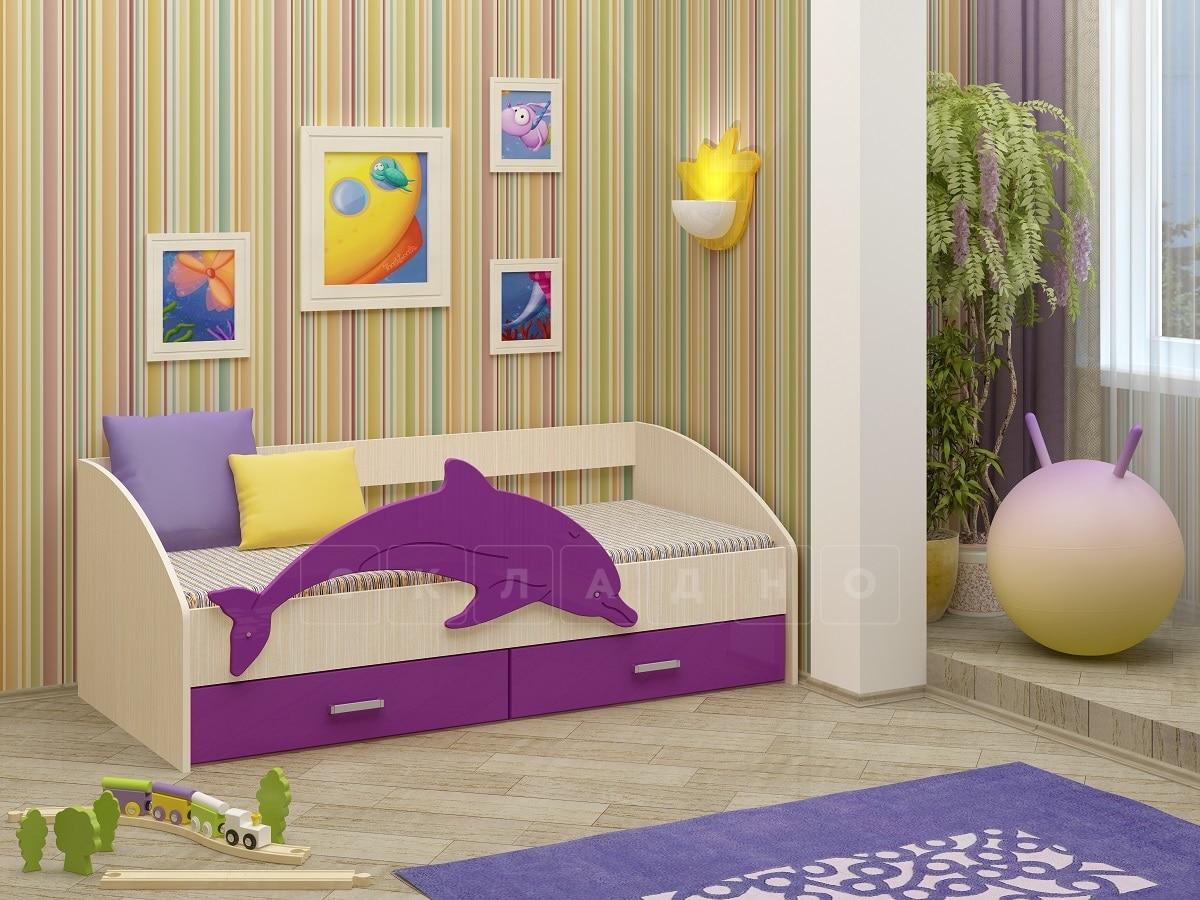 Детская кровать Дельфин-4 МДФ фото 7 | интернет-магазин Складно