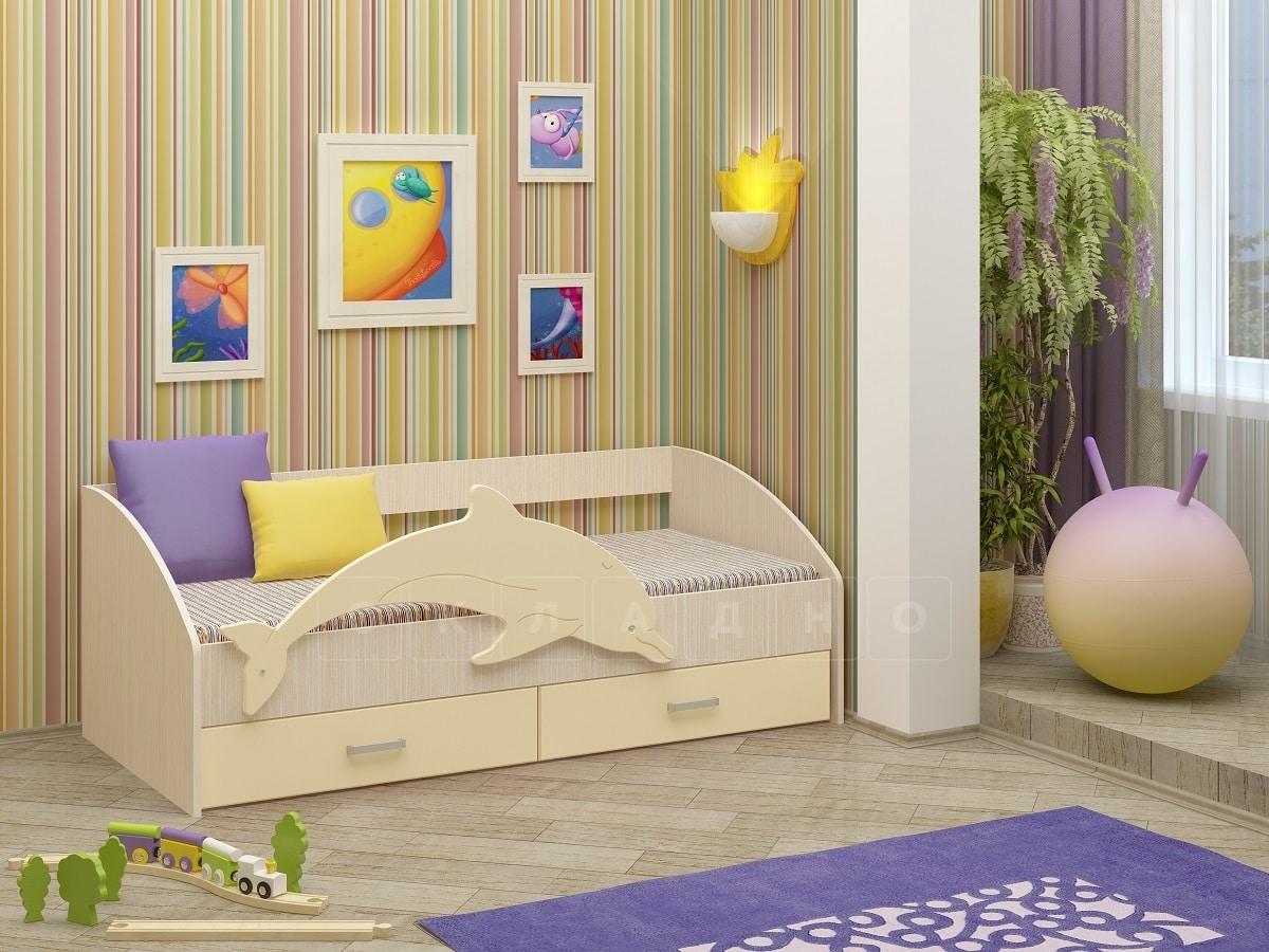 Детская кровать Дельфин-4 МДФ фото 6 | интернет-магазин Складно