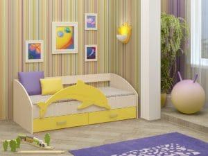 Детская кровать Дельфин-4 МДФ 8310 рублей, фото 5 | интернет-магазин Складно