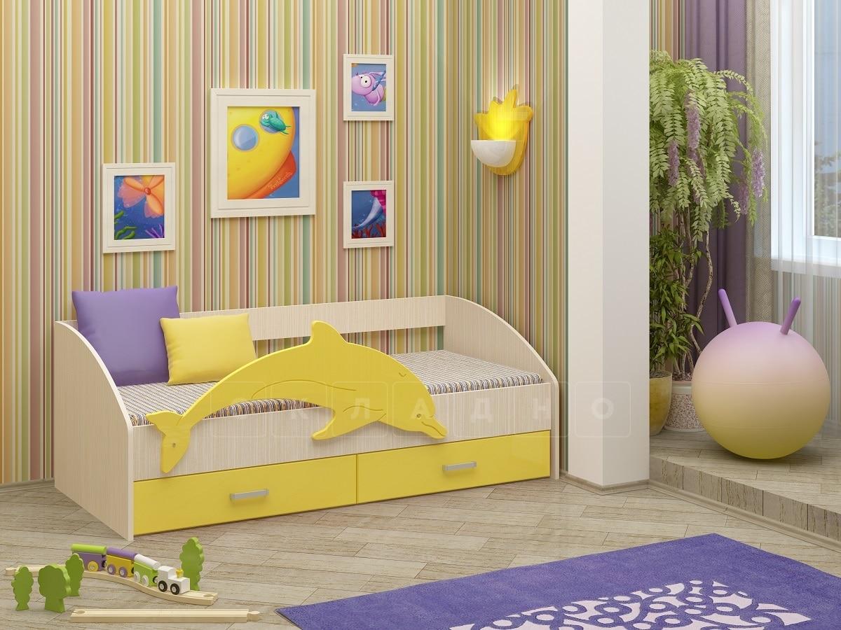 Детская кровать Дельфин-4 МДФ фото 5 | интернет-магазин Складно
