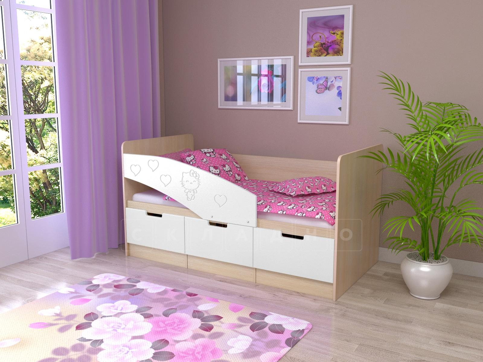 Детская кровать Бемби-7 Hello Kitty фото 5 | интернет-магазин Складно