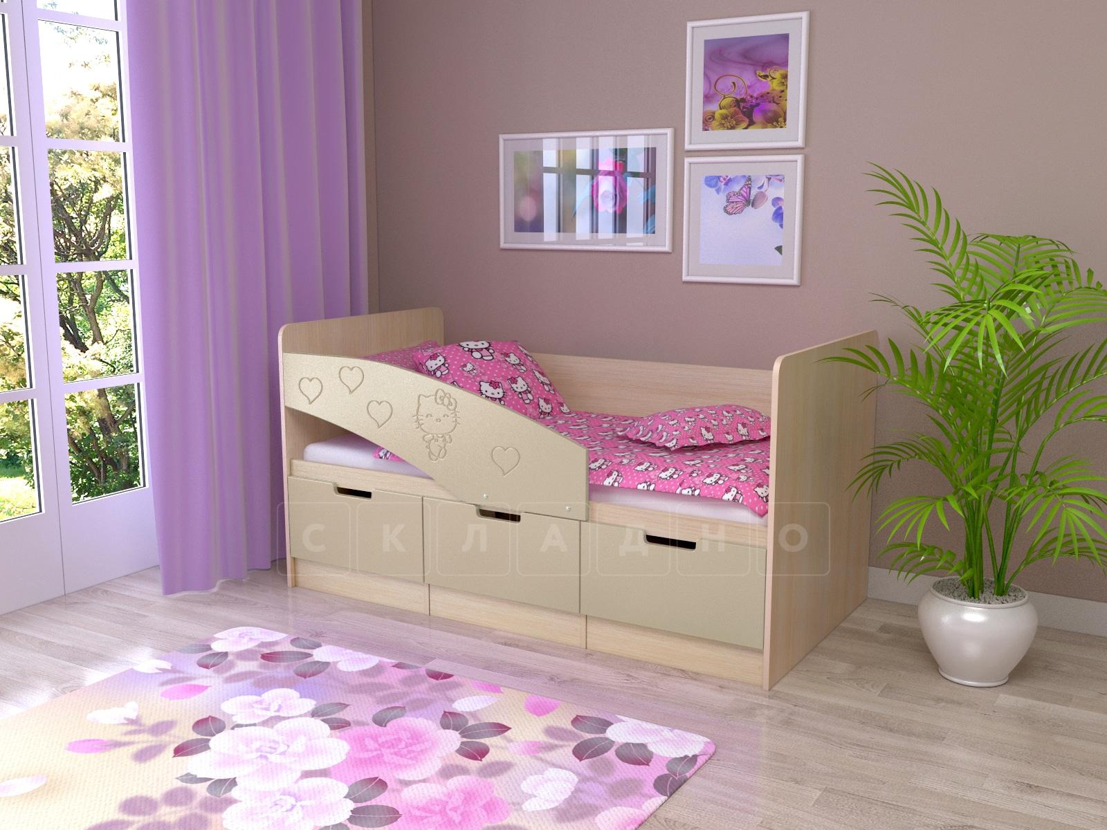 Детская кровать Бемби-7 Hello Kitty фото 4 | интернет-магазин Складно