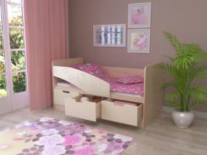 Детская кровать Бемби-7 Hello Kitty фото 2 | интернет-магазин Складно