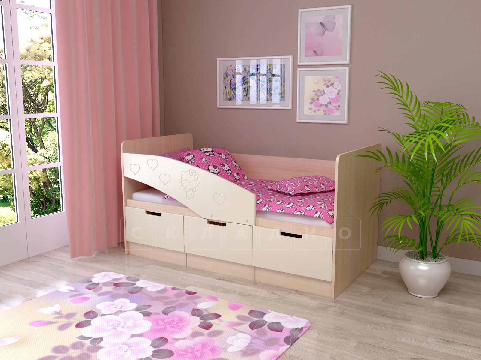 Детская кровать Бемби-7 Hello Kitty фото 1 | интернет-магазин Складно