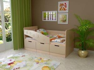 Детская кровать Бемби-8 Бабочки фото | интернет-магазин Складно