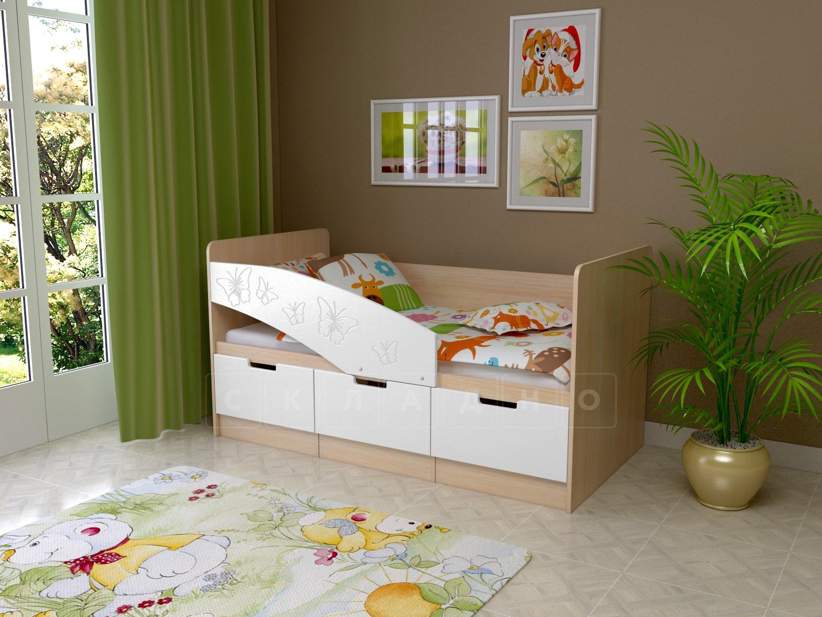 Детская кровать Бемби-8 Бабочки фото 1 | интернет-магазин Складно