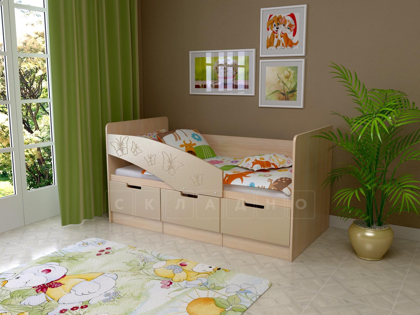 Детская кровать Бемби-8 Бабочки фото 2 | интернет-магазин Складно
