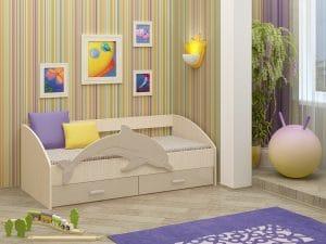 Детская кровать Дельфин-4 МДФ 8310 рублей, фото 9 | интернет-магазин Складно