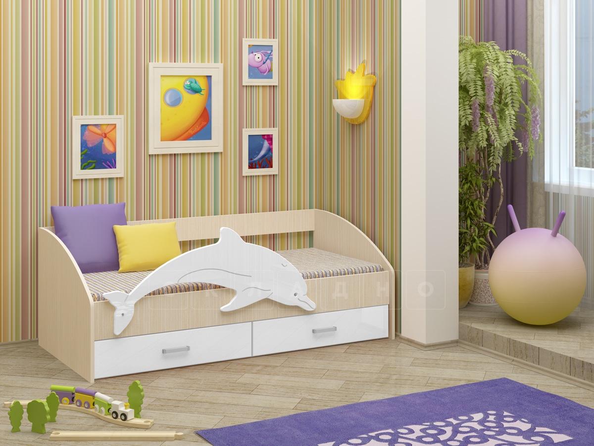 Детская кровать Дельфин-4 МДФ фото 10 | интернет-магазин Складно