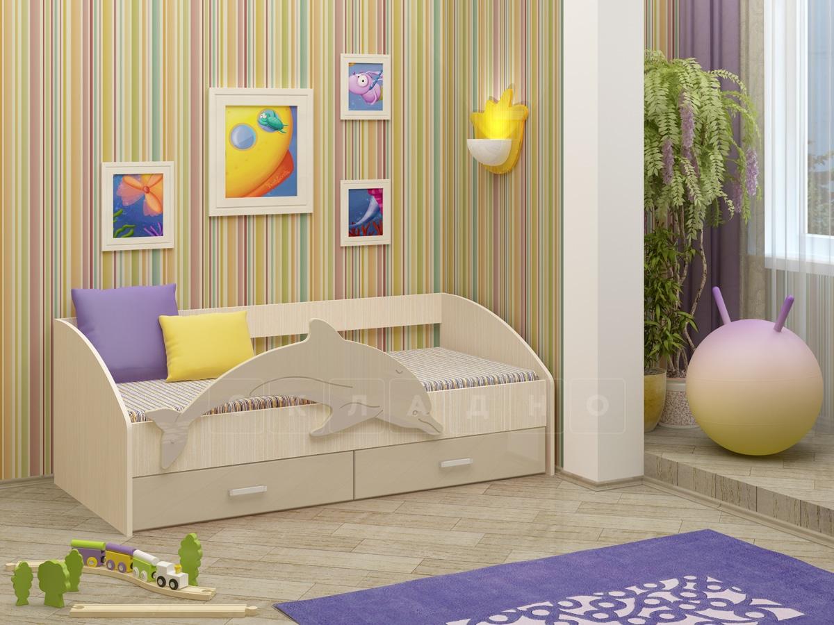 Детская кровать Дельфин-4 МДФ фото 9 | интернет-магазин Складно