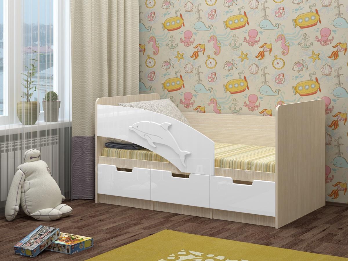 Детская кровать Дельфин-6 мдф 180см фото 11 | интернет-магазин Складно