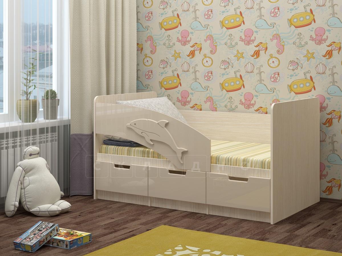 Детская кровать Дельфин-6 мдф 180см фото 10 | интернет-магазин Складно