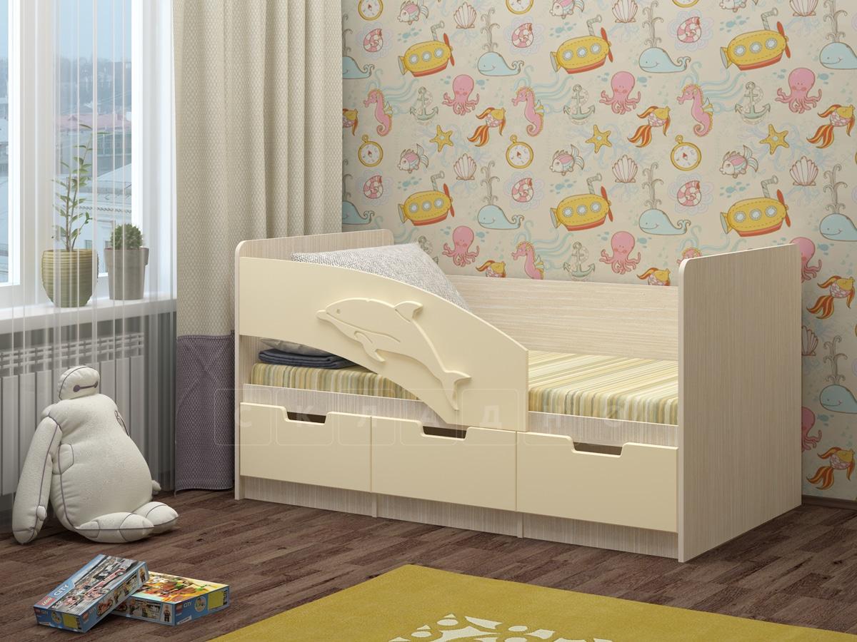 Детская кровать Дельфин-6 мдф 180см фото 3 | интернет-магазин Складно