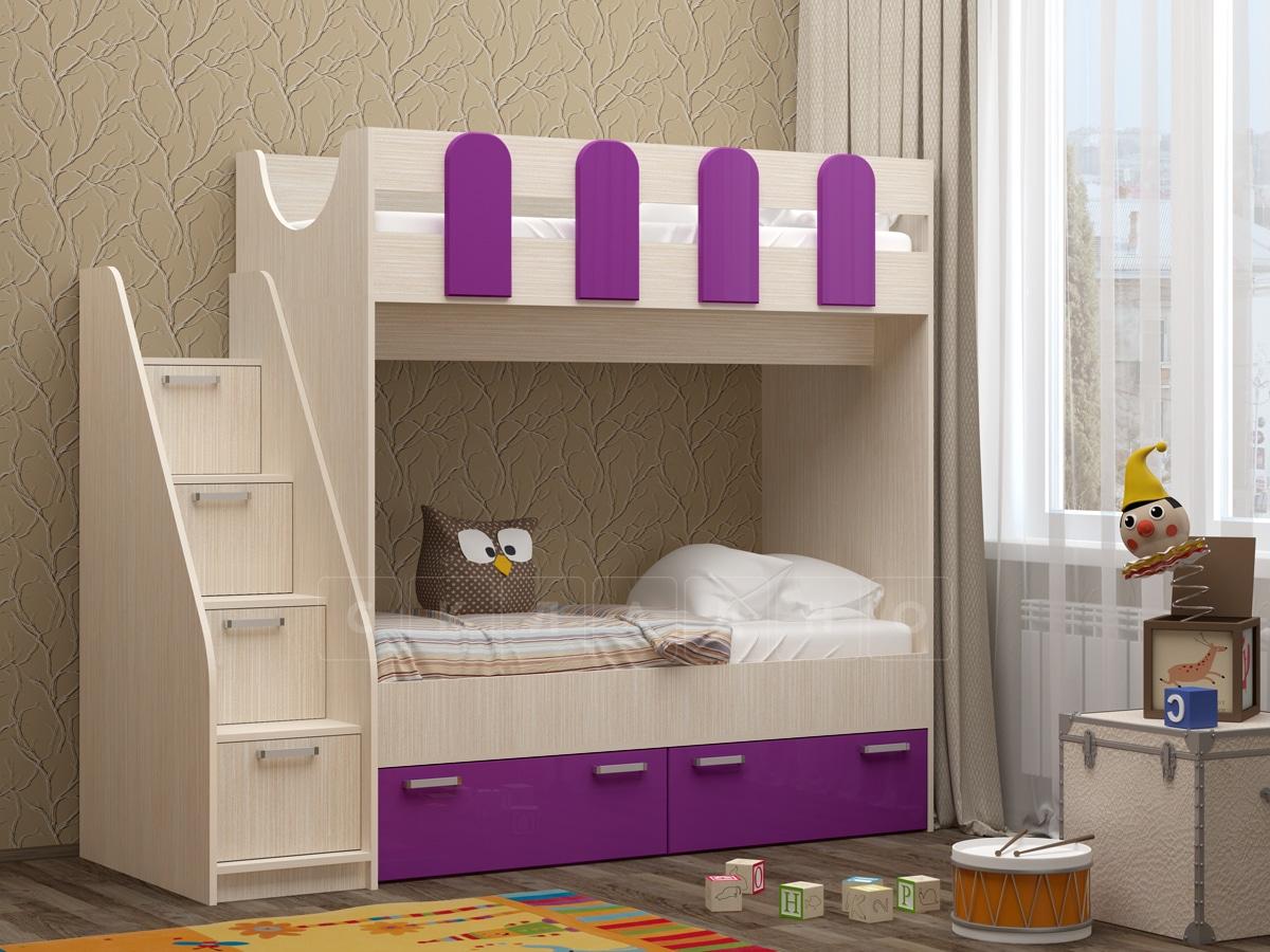 Двухъярусная кровать Бемби-11 фото 1 | интернет-магазин Складно