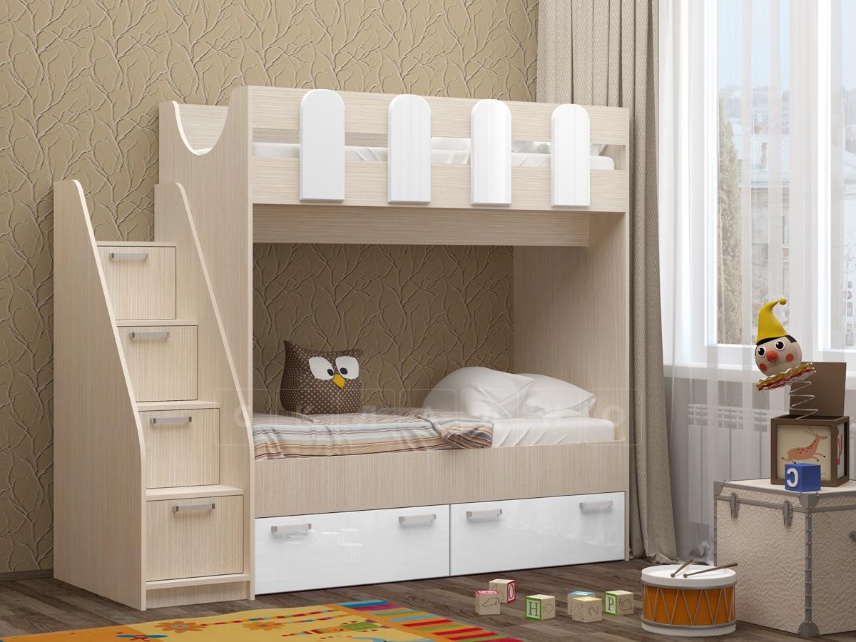 Двухъярусная кровать Бемби-11 фото 2 | интернет-магазин Складно