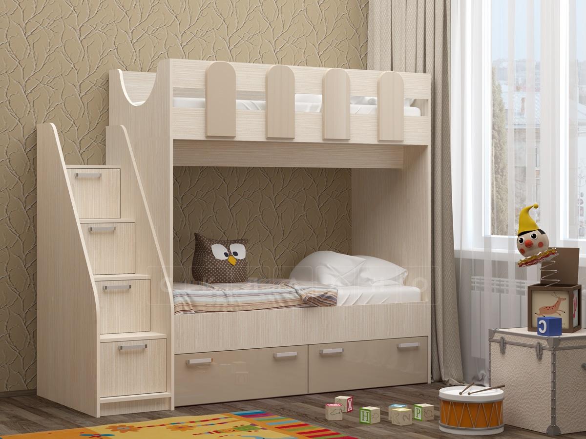 Двухъярусная кровать Бемби-11 фото 3 | интернет-магазин Складно