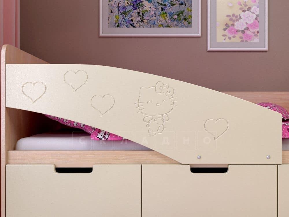 Детская кровать Бемби-7 Hello Kitty фото 3 | интернет-магазин Складно