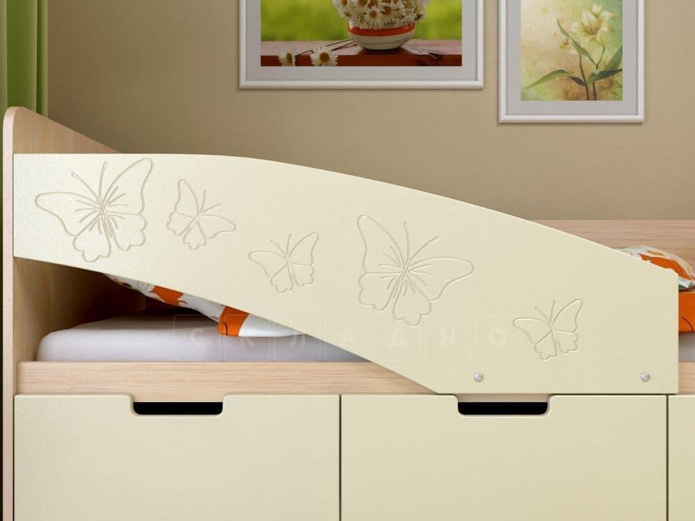 Детская кровать Бемби-8 Бабочки фото 3 | интернет-магазин Складно