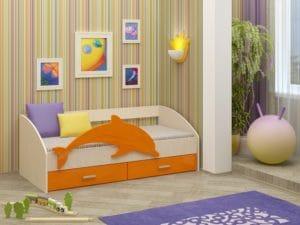 Детская кровать Дельфин-4 МДФ 8310 рублей, фото 4 | интернет-магазин Складно