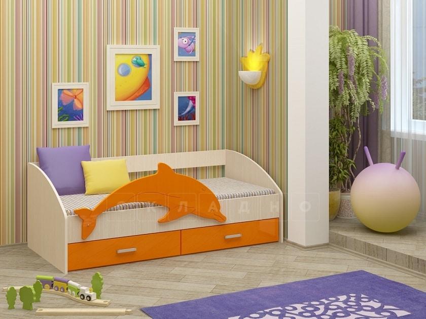 Детская кровать Дельфин-4 МДФ фото 4 | интернет-магазин Складно