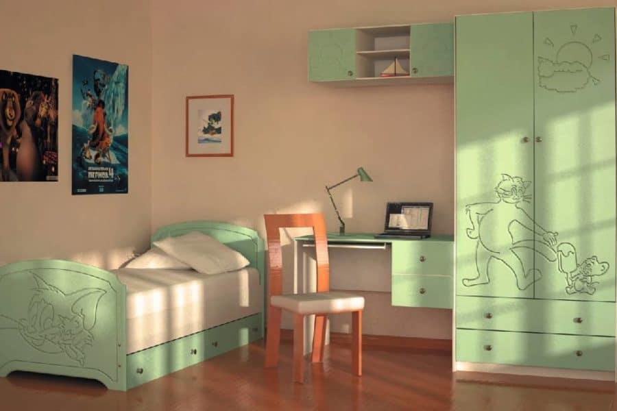 Набор детской мебели Том и Джери вариант 1 фото | интернет-магазин Складно