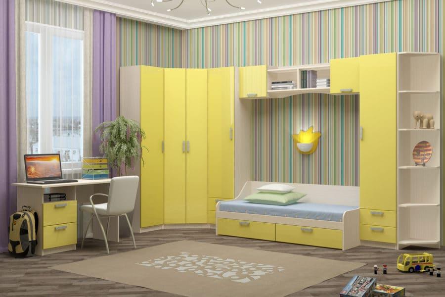 Набор детской мебели Юниор-7 мдф вариант 1 фото | интернет-магазин Складно