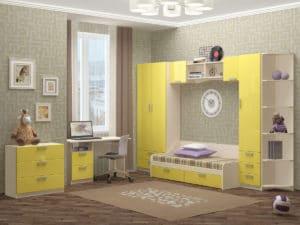 Набор детской мебели Юниор-7 мдф вариант 2 фото | интернет-магазин Складно
