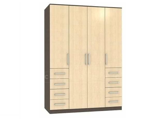 Шкаф распашной Квадро лдсп с ящиками без зеркал фото 1 | интернет-магазин Складно