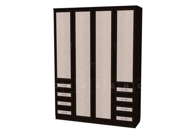 Шкаф распашной Квадро рамка мдф с ящиками без зеркал фото 1 | интернет-магазин Складно