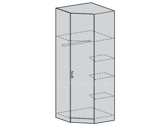 Шкаф угловой МШУ мдф фото 3 | интернет-магазин Складно