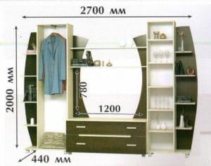 Стенка Тиана-3 12210 рублей, фото 2 | интернет-магазин Складно
