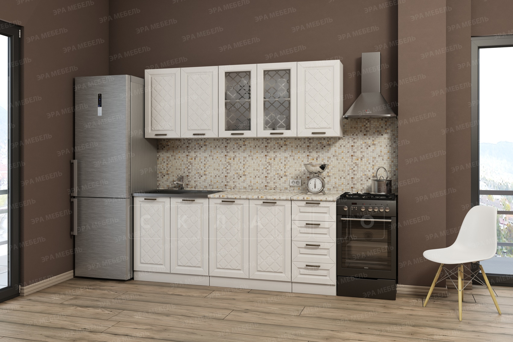 Кухонный гарнитур Агава 2,0 м вариант 3 фото 1 | интернет-магазин Складно