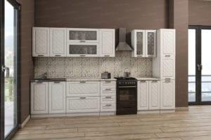 Кухонный гарнитур с пеналом Агава 3,0м вариант 1 фото | интернет-магазин Складно
