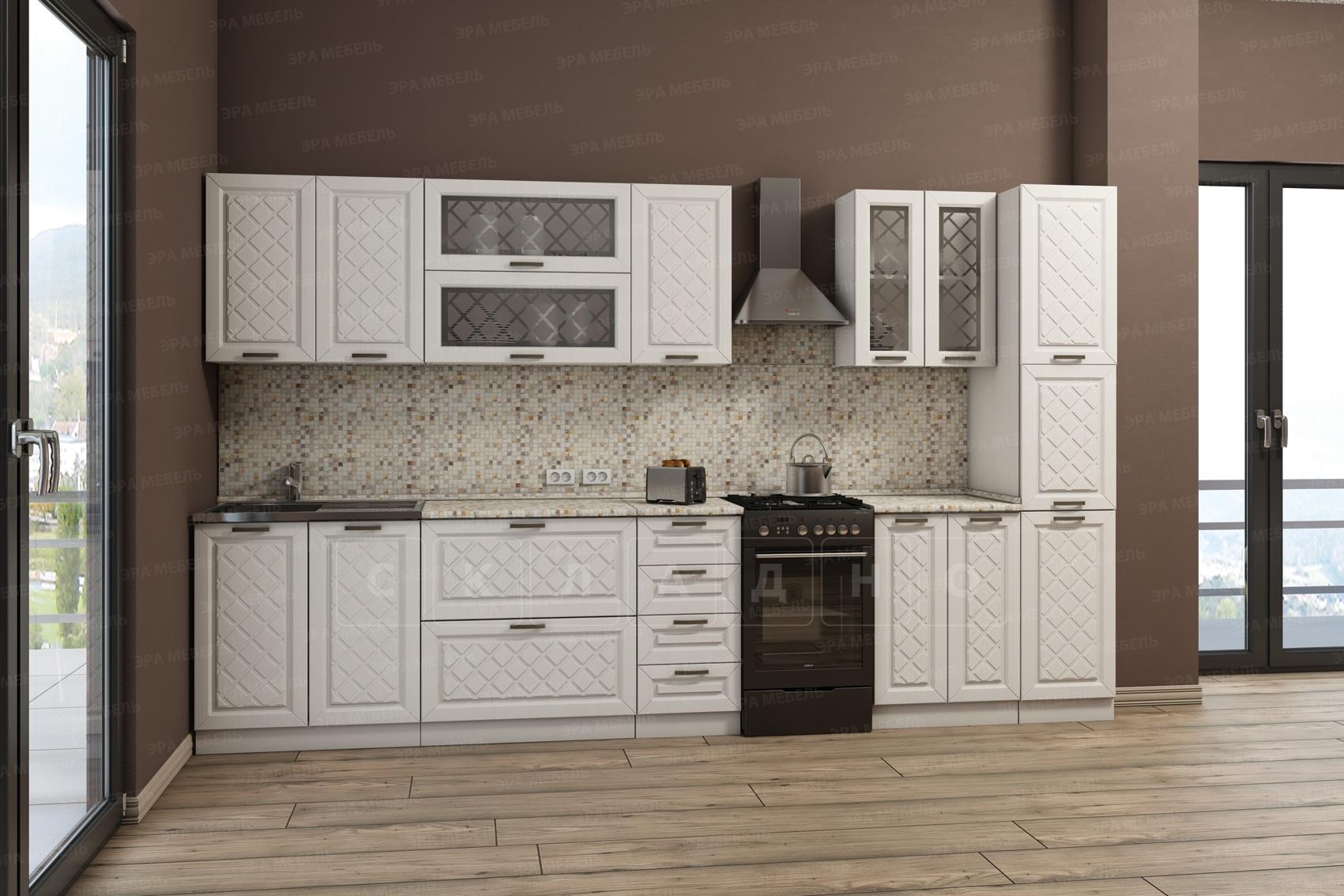Кухонный гарнитур с пеналом Агава 3,0 м вариант 1 фото 1 | интернет-магазин Складно