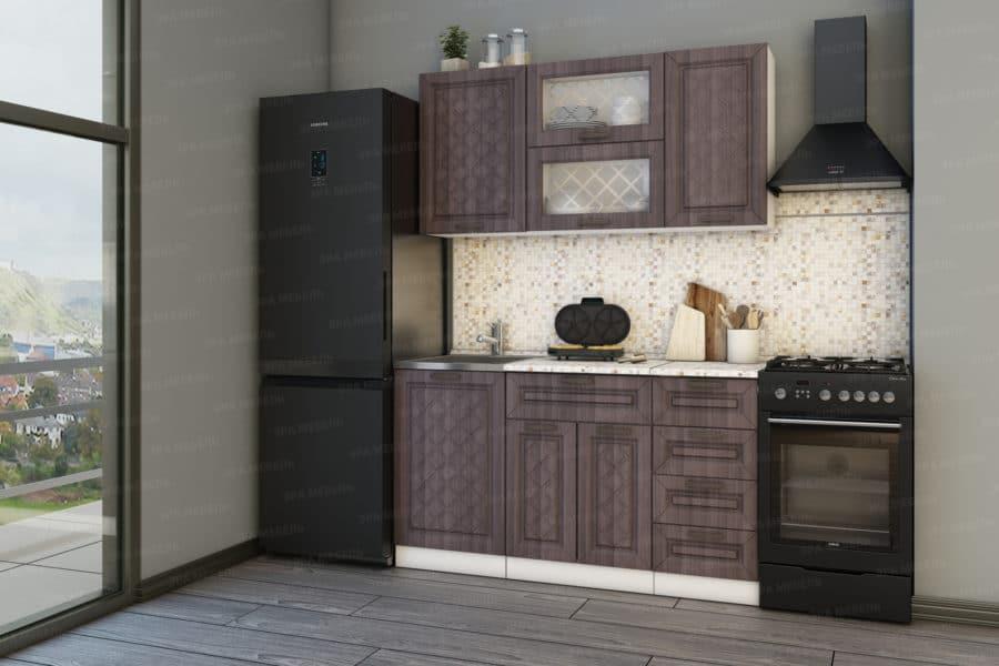 Кухонный гарнитур Агава 1,5м вариант 2 фото 2 | интернет-магазин Складно