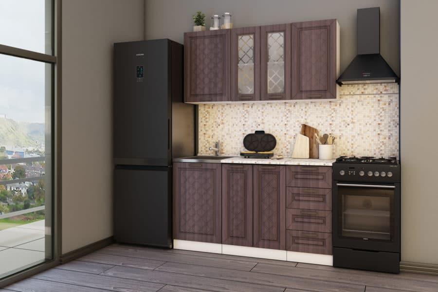 Кухонный гарнитур Агава 1,5м вариант 1 фото 2 | интернет-магазин Складно