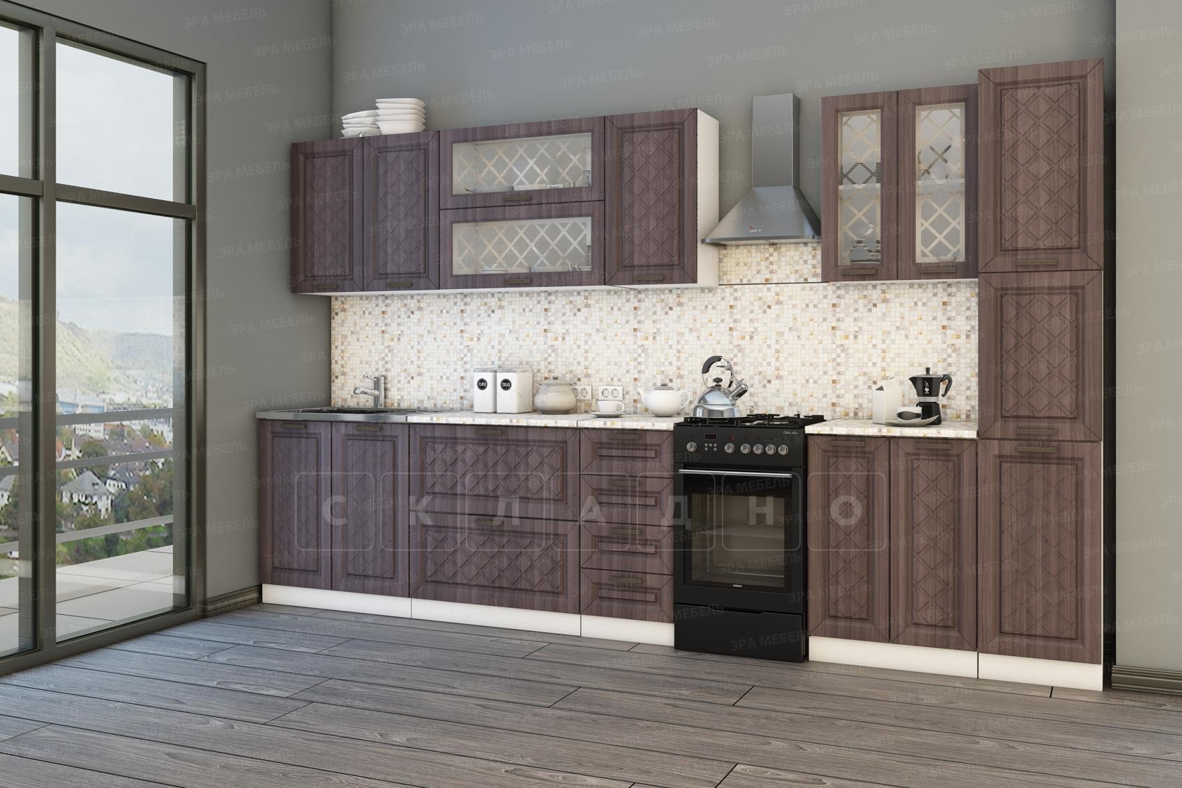 Кухонный гарнитур с пеналом Агава 3,0 м вариант 1 фото 2 | интернет-магазин Складно