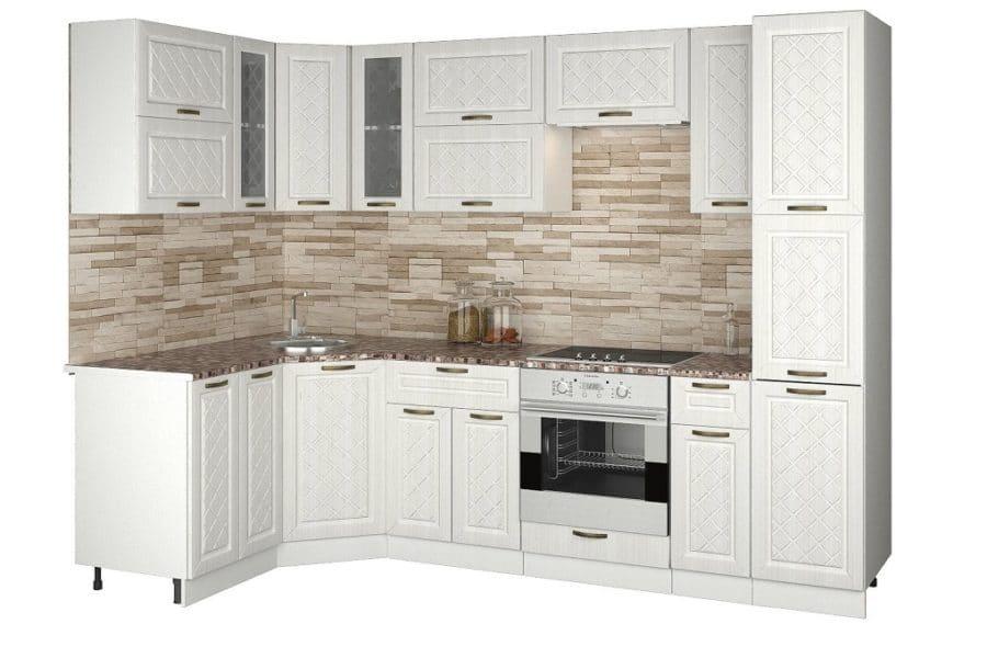 Кухня угловая с пеналом Агава 1,45х2,75м фото | интернет-магазин Складно