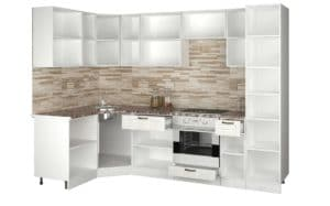 Кухня угловая с пеналом Агава 1,45х2,75 м фото | интернет-магазин Складно
