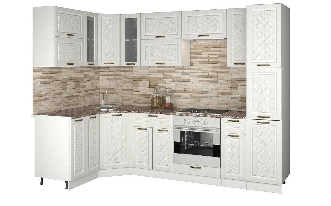 Кухня угловая с пеналом Агава 1,45х2,75м фото 1 | интернет-магазин Складно