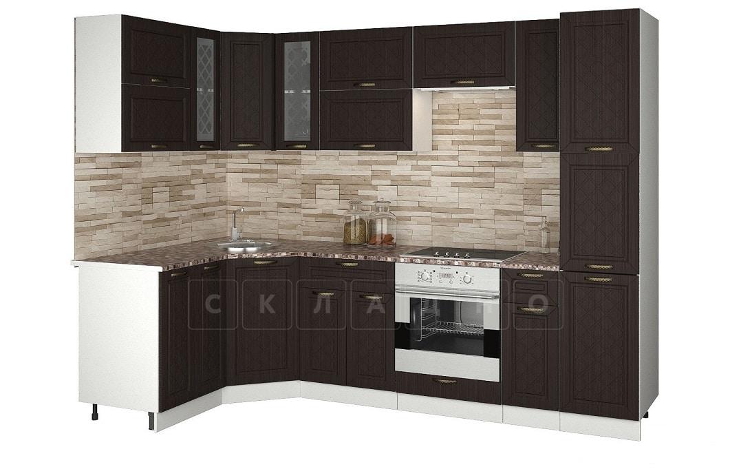 Кухня угловая с пеналом Агава 1,45х2,75м фото 3 | интернет-магазин Складно